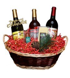 3 Bottle Holiday Basket