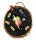 1 Bottle Sweet Southern Wine Basket Image